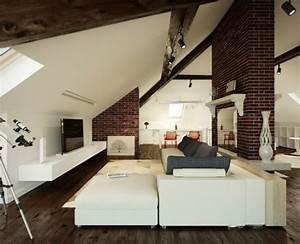 Wohnwagen Gemütlich Einrichten : wohnzimmer einrichten gem tlich unter dachschr ge dach pinterest wohnzimmer dachboden und ~ Eleganceandgraceweddings.com Haus und Dekorationen