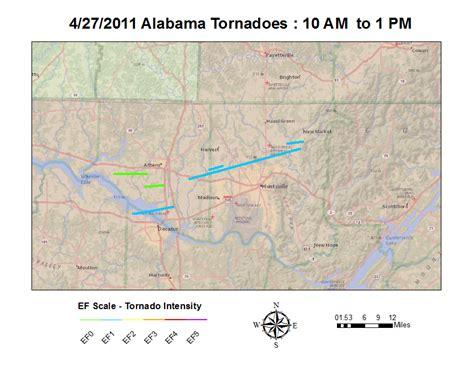 Al/tn Tornado Tracks