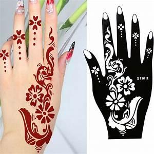 Henna Muster Schablone : die besten 25 henna schablonen ideen auf pinterest henna tattoo schablonen henna tattoo ~ Frokenaadalensverden.com Haus und Dekorationen