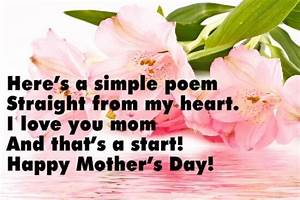 Short Mother's Day Poems » Mother's Day » Surfnetkids