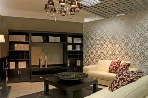 Living Room With Textured Wallpaper idea   HD Wallpaper