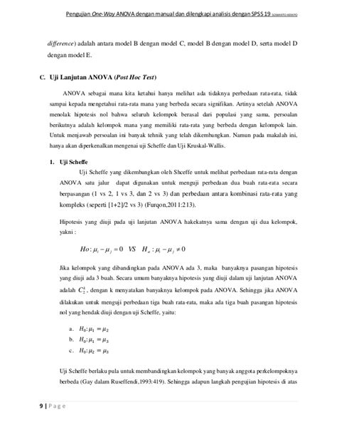 One way anova spss pdf