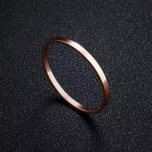 1mm women39s plain simple wedding rings small rose gold With small simple wedding rings