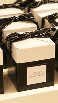 Just love these Sweet 16 Chanel inspired gift boxes ...