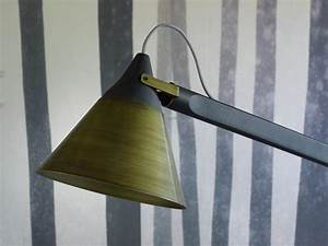 slope floor lamp with swing arm by miniforms design skrivo With swing arm floor lamp wood