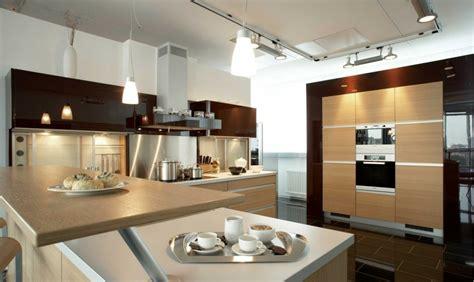 salon cuisine design 40 idées de hotte îlot et murale design