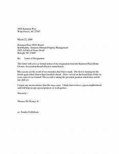 Best Photos of Board Resignation Letter Sample  Sample Board Resignation Letter Template