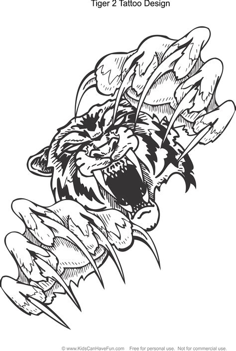 pin  kidscanhavefuncom  tattoo coloring pages