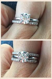 Wedding rings stacked wedding bands with solitaire for Wedding bands and engagement ring sets