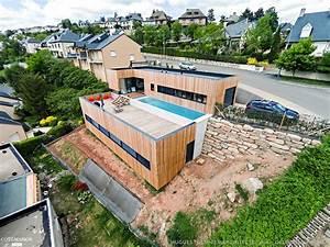 Maison Bois Avec Terrasse Et Bassin De Nage En B U00e9ton