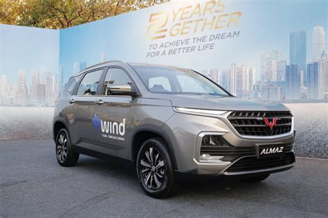 wuling presents the new variant of almaz with wind and 7