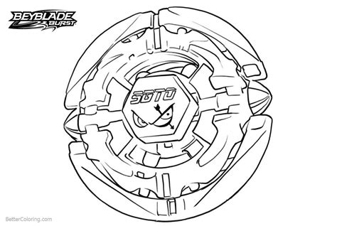 Beyblade Burst Coloring Pages Black And White