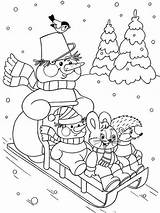 Coloring Winter Nature Printable sketch template