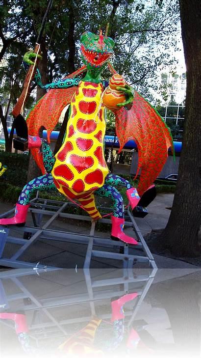 Alebrijes Mexican Mexico Folk Creatures Sculptures Animal