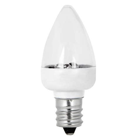 4 led light bulbs shop feit electric 2 pack 0 4 watt 3 500k candelabra base