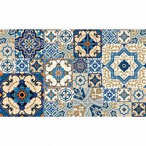 Stickers Carreaux De Ciment : 60 stickers carreaux de ciment toundra salle de bain et ~ Premium-room.com Idées de Décoration