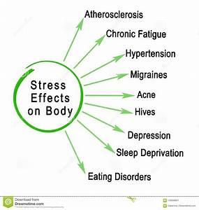 Stress Effects On Body Stock Illustration  Illustration Of