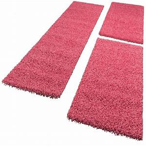 Teppich Bettumrandung 3 Teilig : bettumrandung l ufer shaggy hochflor langflor teppich in pink l uferset 3tlg teppiche ~ Bigdaddyawards.com Haus und Dekorationen