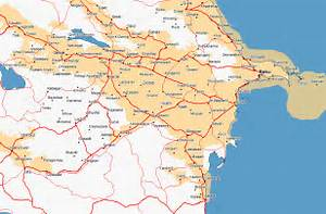 Maps of Azerbaijan and the Caucasus - Azerb.com Azerbaijan