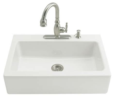 white apron front kitchen sink kohler k 6546 3 0 dickinson tile in apron front kitchen 1746