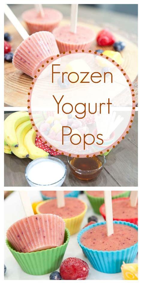 frozen yogurt pops recipe recipes frozen yogurt pops