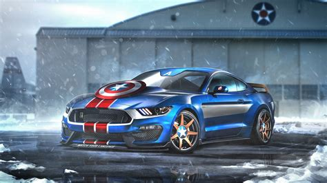 captain america ford mustang gtr wallpapers hd