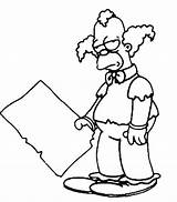 Sideshow Bob Coloring Pages Template Clown sketch template