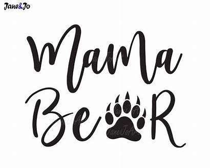 Mama Bear Silhouette Clipart Svg Mom Clip