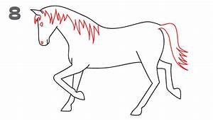 How To Draw a Horse - Step-by-Step