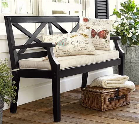 Porch Furniture Sale by Hstead Painted Porch Bench Black Pottery Barn
