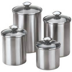metal canisters kitchen 4 stainless steel modern kitchen canister set ebay