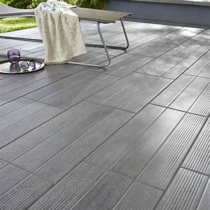 carrelage terrasse gris 31 x 618 cm vieste castorama With photo terrasse carrelage gris