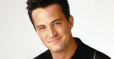 Matthew Perry looks dishevelled with messy slicked back ...