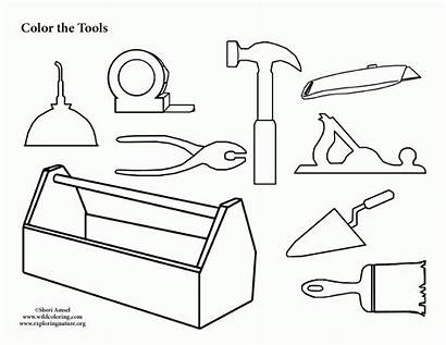 Coloring Tool Pages Box Tools Construction Colouring