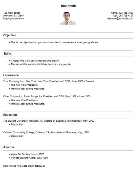 resume style resume cv template exles