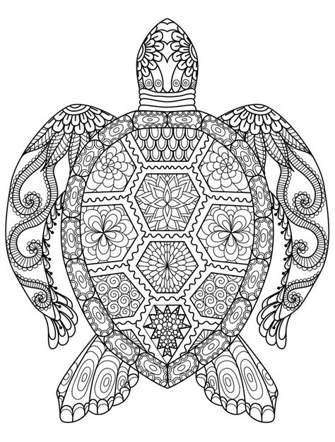 20 gorgeous free printable adult coloring pages turtle