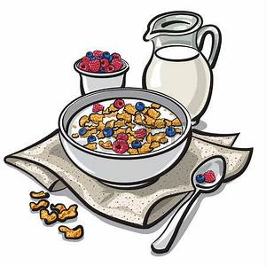 Cereal clipart breakfast time - Pencil and in color cereal ...