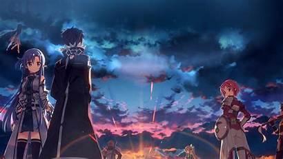 Anime Drawing Sunset Ao16 Desktop Papers 4k