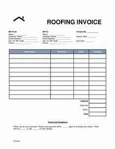 download roofing invoice template excel rabitahnet With roof repair invoice