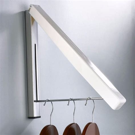 Bedroom Storage Folding Hook by Wall Mounted Retractable Clothes Rack The Storage