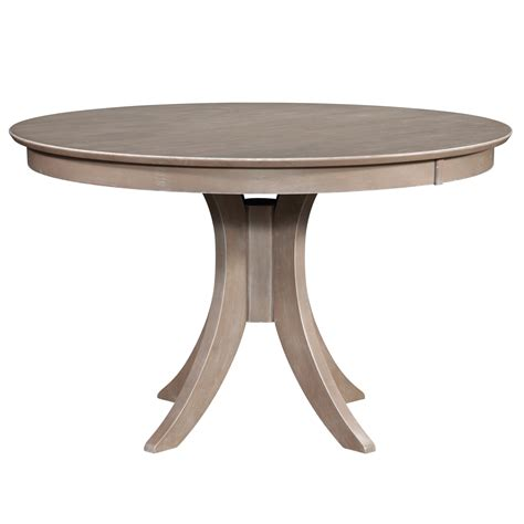 36 X 48 Dining Table With Leaf by Cosmopolitan Weathered Grey Dining Room Pedestal Table 48