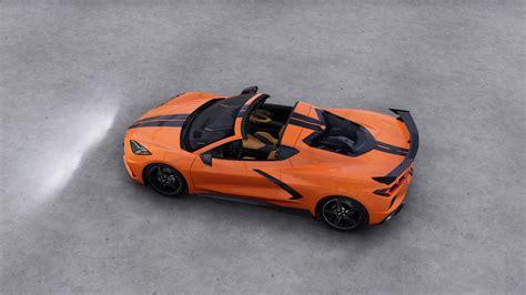 hd wallpaper   corvette orange