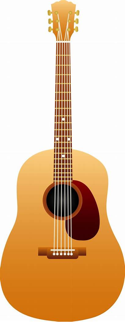 Guitar Clip Vector Clipart Fire Wing Acoustic