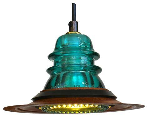 insulator light led pendant rusted metal