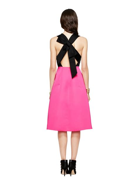 kate spade color block dress kate spade new york colorblock bow back dress in purple lyst