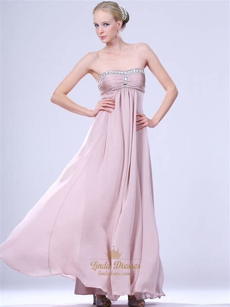 Light Pink Dress by Light Pink Strapless Chiffon Bridesmaid Dresses With