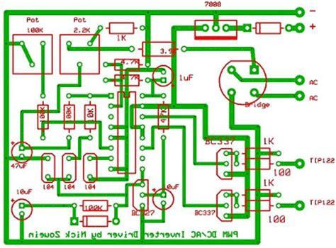 build a 250 to 5000 watts pwm dc ac 220v power inverter switched wiring circuit