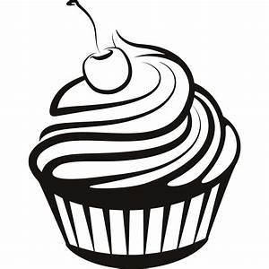 A Drawing Of A Cupcake Simple Cupcake Drawings Cupcake ...