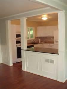 kitchen half wall ideas 25 best ideas about half wall kitchen on half walls wood molding and kitchen with