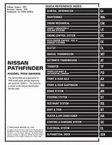 1999 Nissan Pathfinder Service Repair Manual